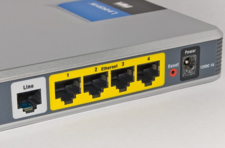 Connections on an ADSL Modem Router